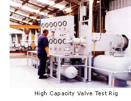 High Capacity Relief Vavle Test Rig